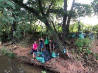 Villarrica: Jóvenes limpian arroyo