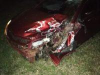 Motociclista fallece en forma instantánea al colisionar por un automóvil.