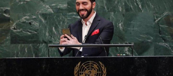 La selfie de Nayib Bukele en la tribuna de Naciones Unidas