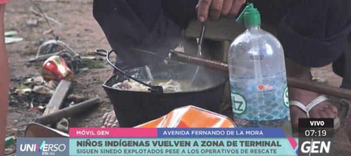Rescatan a 28 niños indígenas de las inmediaciones de la Terminal