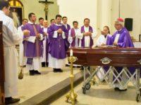 La Diócesis de Villarrica del Espíritu Santo despidió con una misa de cuerpo presente, los restos del Monseñor Eulogio Montiel Ramos