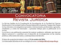Facultad de Ciencias Jurídicas de la UC Guairá convoca para participar de la revista jurídica