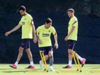 Messi, con una «pequeña contractura», sigue sin entrenarse con el grupo