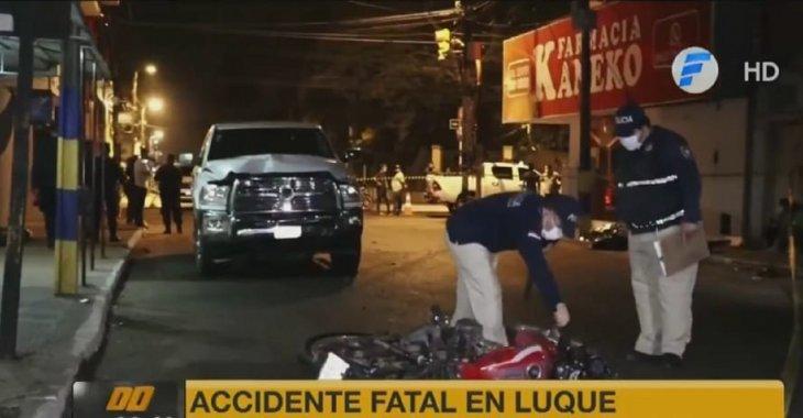 Delivery fallece tras ser embestido por una camioneta en Luque