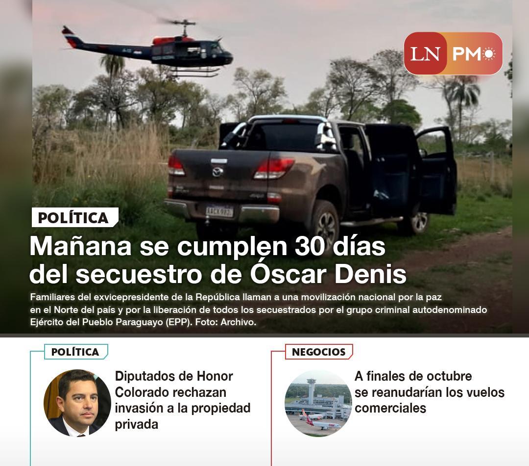 Mañana se cumplen 30 días del secuestro de Óscar Denis