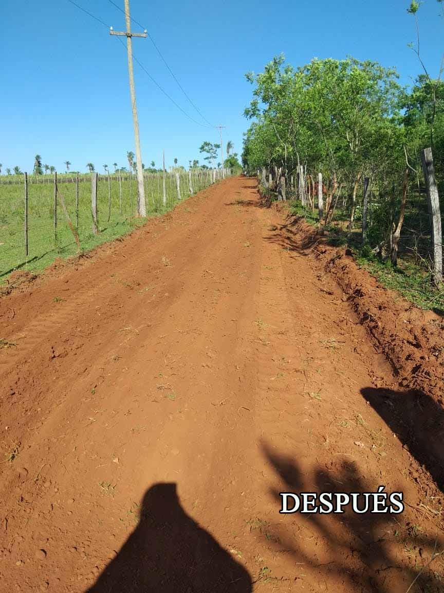 Se realizó la apertura de camino entre la Compañía Rosado y Potrero Báez en Villarrica