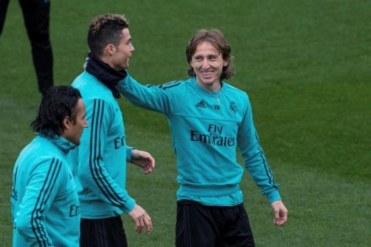 Modric y Ronaldo recuerdan sus buenos tiempos en el Real Madrid