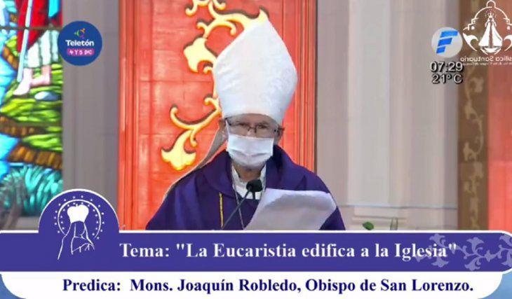 Obispo destaca ollas populares durante pandemia y critica violencia contra la mujer