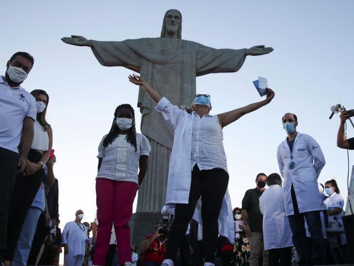 Presionado por gobernadores y la segunda ola, Brasil inició vacunación