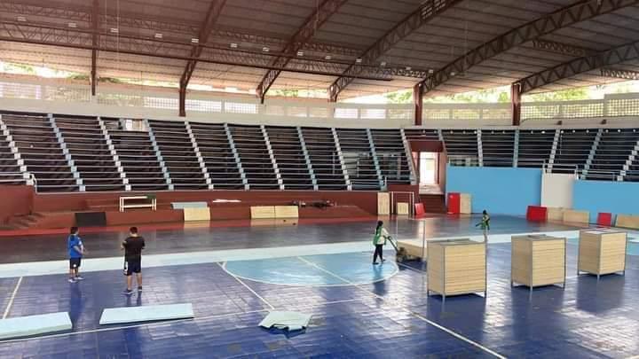 Asi luce el Estadio Ykua Pytã para el Nacional Futsal FIFA.